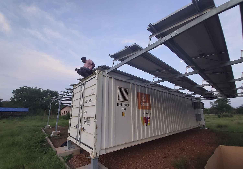 Panneaux solaires de l'usine de transformation de viande à Notsé au togo