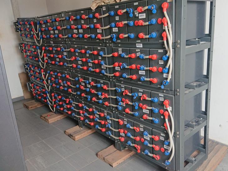 Batteries solaires à Madjamakou en Afrique